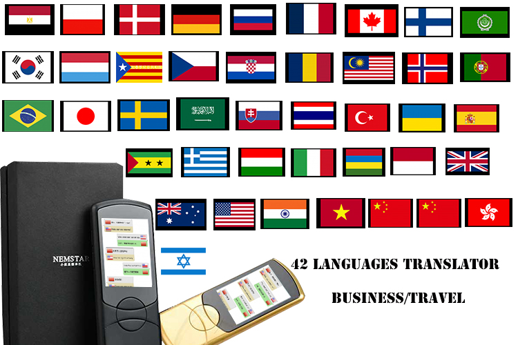 China Speech Simultaneous Translator 42 Type language Instant Voice Real-time Intelligent Instant Smart Best Voice translator