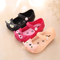 Mini Melissa Jelly Sandals For Baby Girls Boys Children Summer Cute Bowtie Kitty Cartoon Beach Shoes