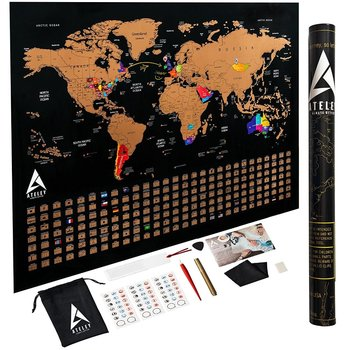 Scratch Off World Map Poster.Scratch Off World Map Poster Us States Outlined Large Size 33x24