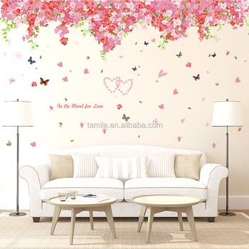 large size wedding background decor decals beautiful sakura flower
