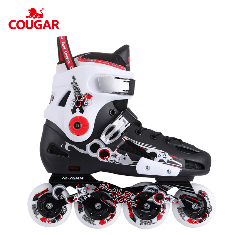 Hot sale COUGAR profissional rolo patins de slalom do freestyle