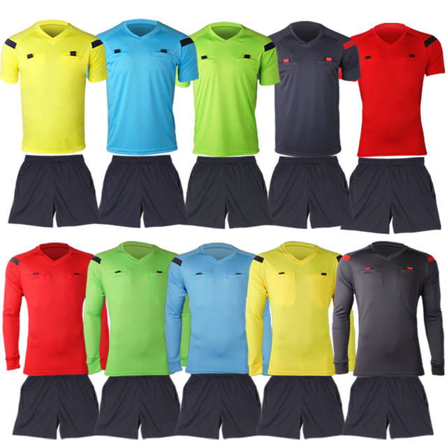 Wholesale Factory Price Soccer Referee Shirt.Jersey Soccer Referee Uniform