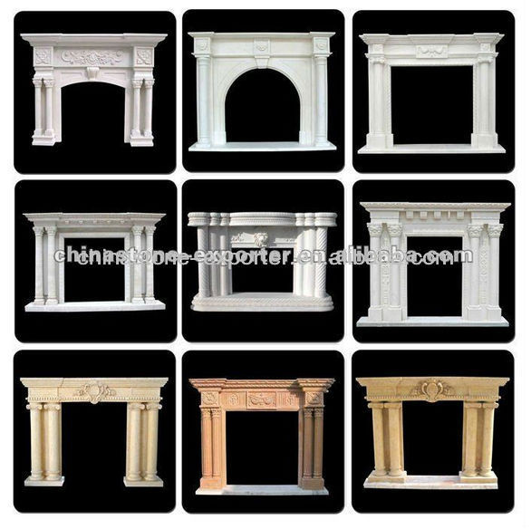 Kingrich Hot sale carved marble fireplaces