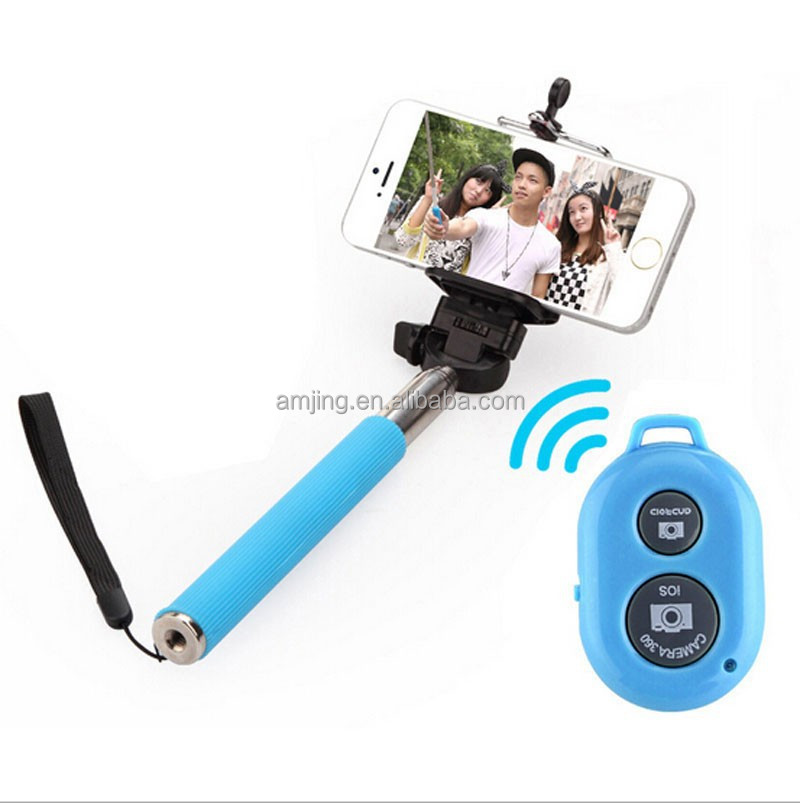Top selling selfie stick with bluetooth monopod selfie stick with bluetooth remote shutter