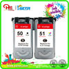 ink visible!remanufactured inkjet cartridge for Canon PG50 CL51