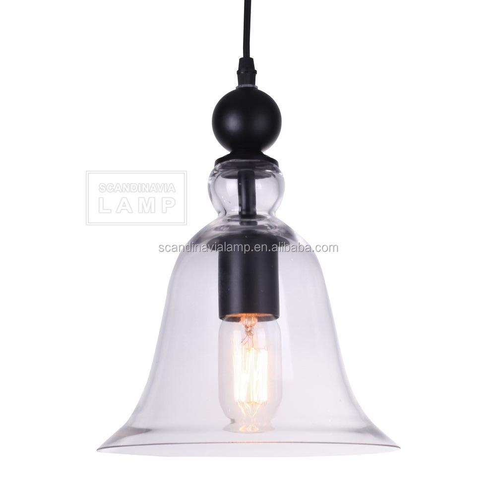 Retro Glass Lighting Vintage Factory Lights Clear Glass Pendant ...
