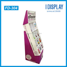 classical design compartment partition retail book display cardboard display stand