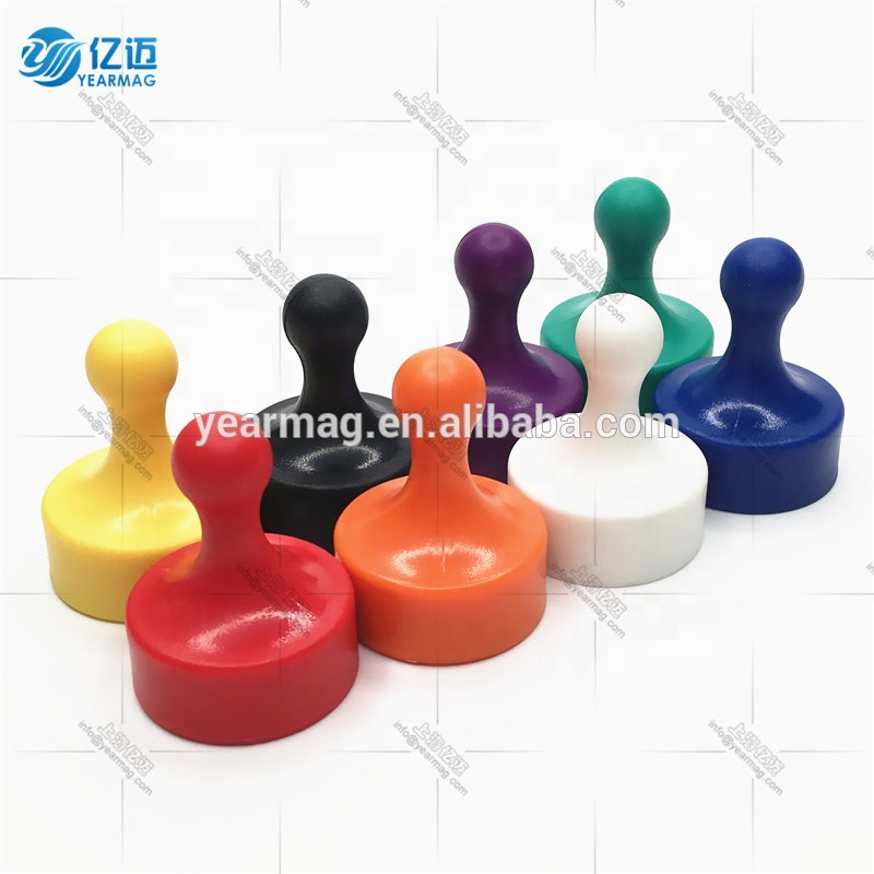 NdFeb strong magnetic n48 push pin magnets for office school home with pawn style fun magnet