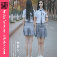 JK Student Class Uniforms Short Sleeve Shirt+Grey Skirt Schoolgirl Costume Sailor School Uniform Designs
