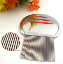 factory wholesale double striped metal head lice and nit free comb