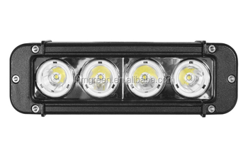 "Single Row 4 Cree Led 8"" Off Road 4x4 Spot 40w Light Bar Mount On ..."