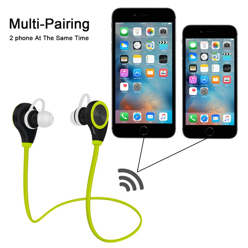 Wholesale High Quality <strong>Bluetooth</strong> 4.0 Headset RQ8 Fashion Wireless Stereo Sports Earphone Music Handsfree Headphone With MIC