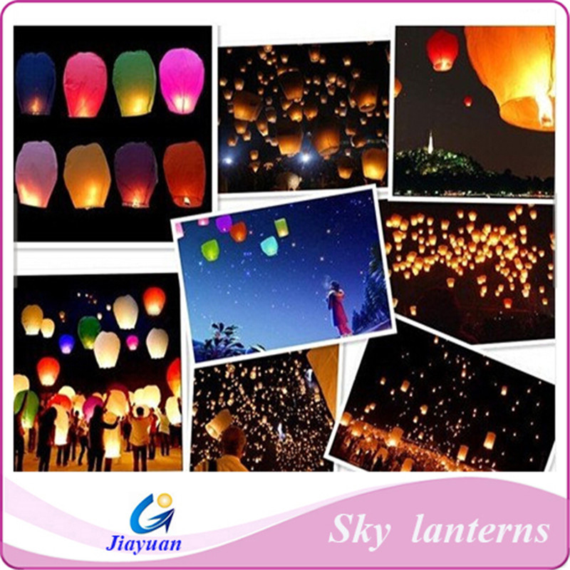 Sky Lantern Eco Wish Flying Lantern Fireproofing Chinese Lantern ...