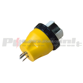 s20917 rv power cord electrical locking adapter, 15a male to 50a female  plug connector