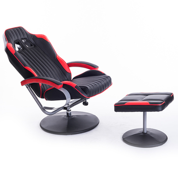 New Style Durable PU Leather Adjustable Swivel Gaming Office Chairs Without  Wheels