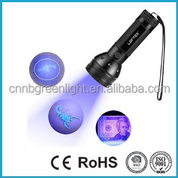 51 UV Ultraviolet Flashlight 395 nM LED Handheld Blacklight