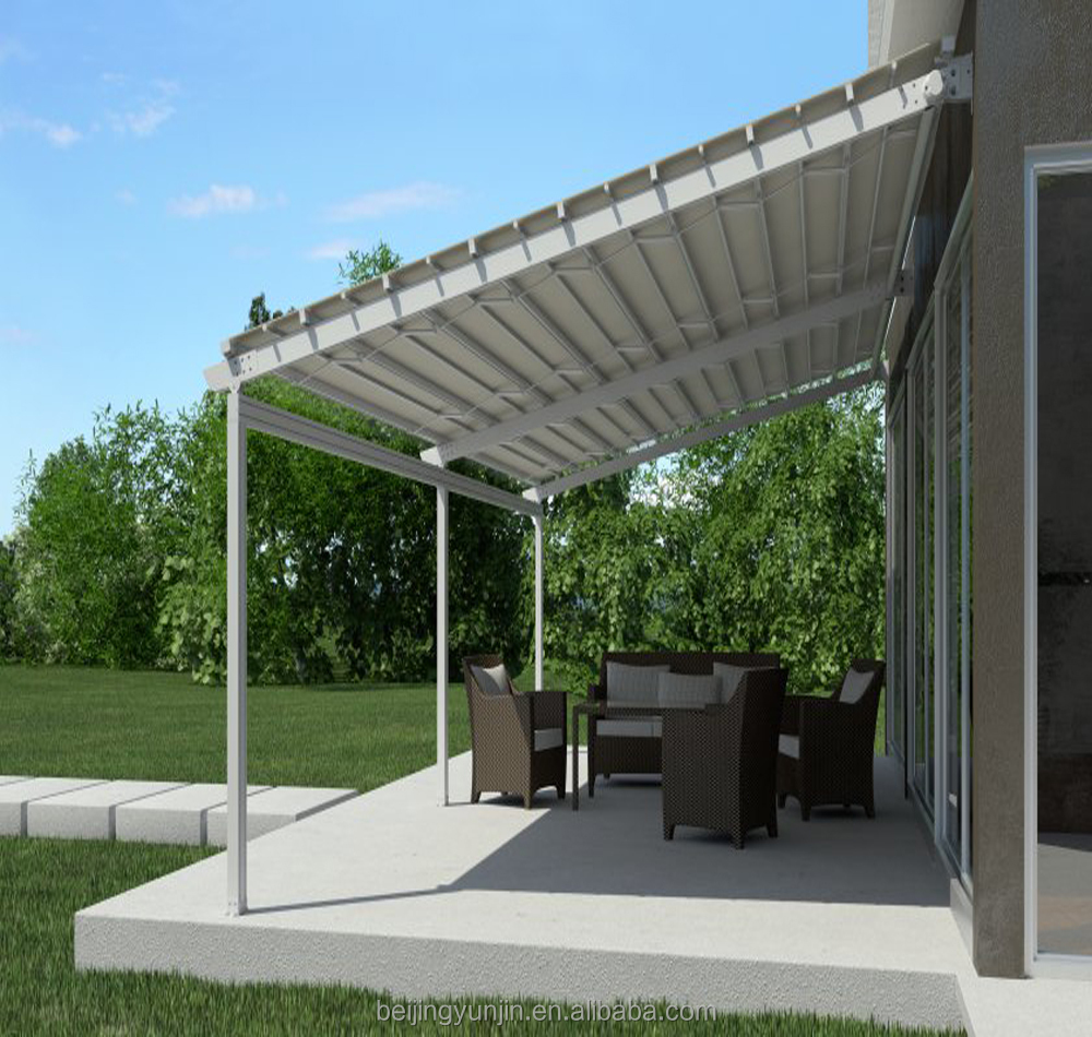 Free Standing Cantilever Canopy Sunshade Motorised Retractable Awning