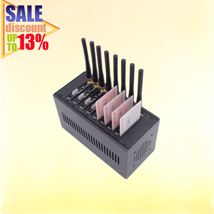 (Anniversary Discount Sale) Discount 13% OFF!!YX SMS MODEM-8 Gateway Every Port Can Send 1500 SMS/hour (3G/4G:3000 SMS/hour)