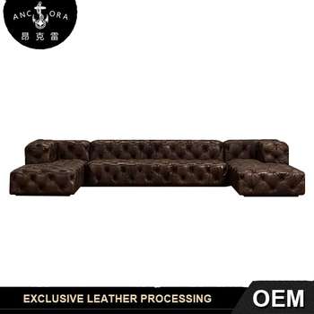 Retro Sectional Tufted Leather Sofa Set A129   Buy Retro Sofa Set,Sectional  Sofa Set,Tufted Sofa Product On Alibaba.com