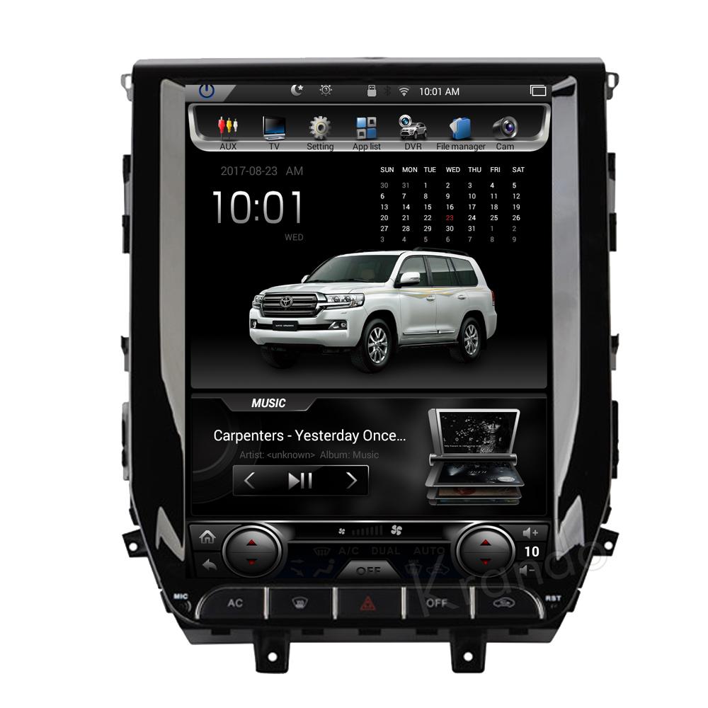 Krando Android 6.0 lettore dvd radio touch screen verticale per toyota land cruiser 2016+ navigazione multimediale 32G ROM KD-TL126