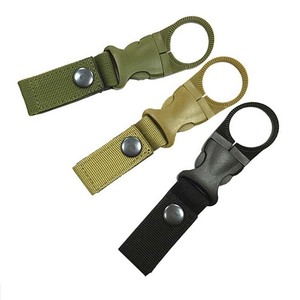 Portable Bottle Hanger Carabiner Climbing Hiking Universal Backpack Belt Hook EDC Buckle Outdoor Survival Gear