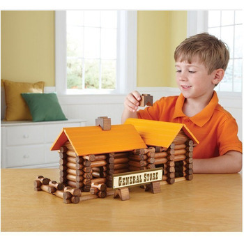 2017 christmas gift wooden block house used educational toys for kids Imagination
