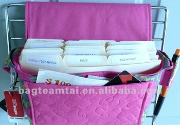 Quilted Coupon Organizer Tote