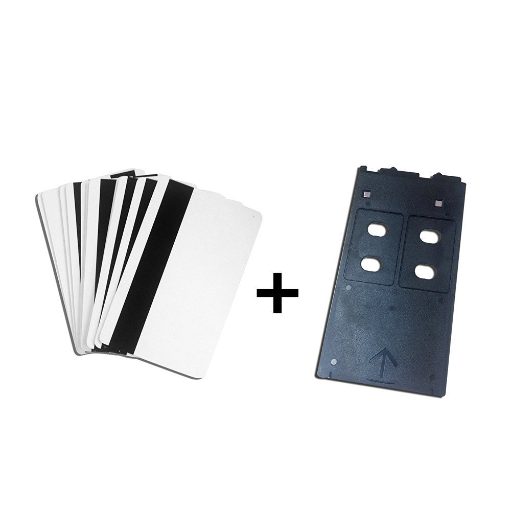 PVC ID Card Starter Kit - 10/20/50/100/200 HiCo Inkjet PVC Cards & PVC Card Tray for Canon IP/MP/MG Printers (20)