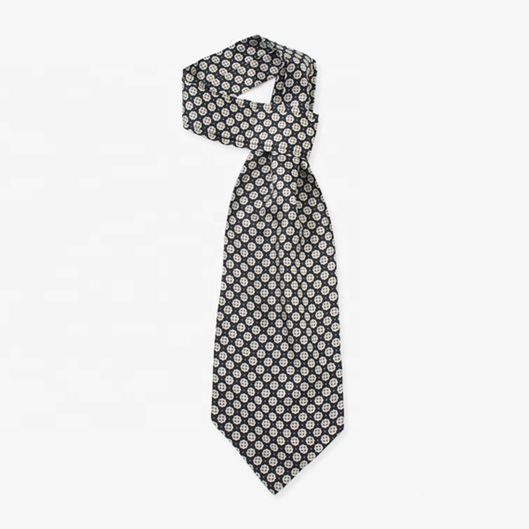 china hersteller polyester jacquardgewebter polka dot Ascot krawatte krawatten für männer
