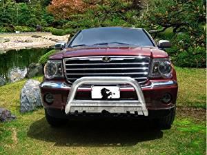 """2007 2008 2009 2010 2011 Chrysler Aspen 2.5"""" Stainless Steel Bull Bar w/ Skid Plate"""