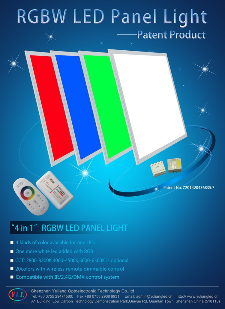 mobile phone wifi bluetooth control rgb led light panel 2x2 parts outdoor led panel light