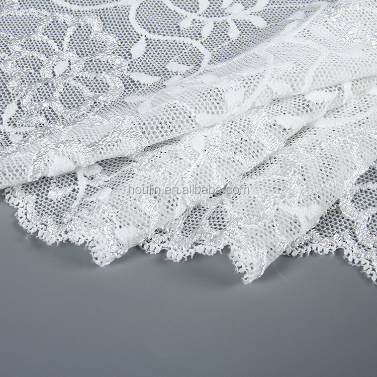 18cm narrow multi-colours nylon polyester mesh 3d embroiderd types sexy white flower lace trim
