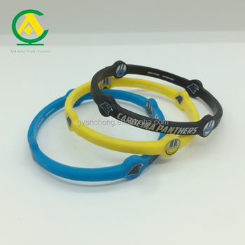 Children colorful embossed engrave silicone wrist band