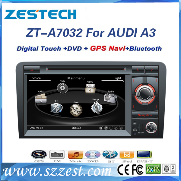 zestech car stereo navigation satnav gps auto parts radio dvd player for audi a3 unilateral. Black Bedroom Furniture Sets. Home Design Ideas