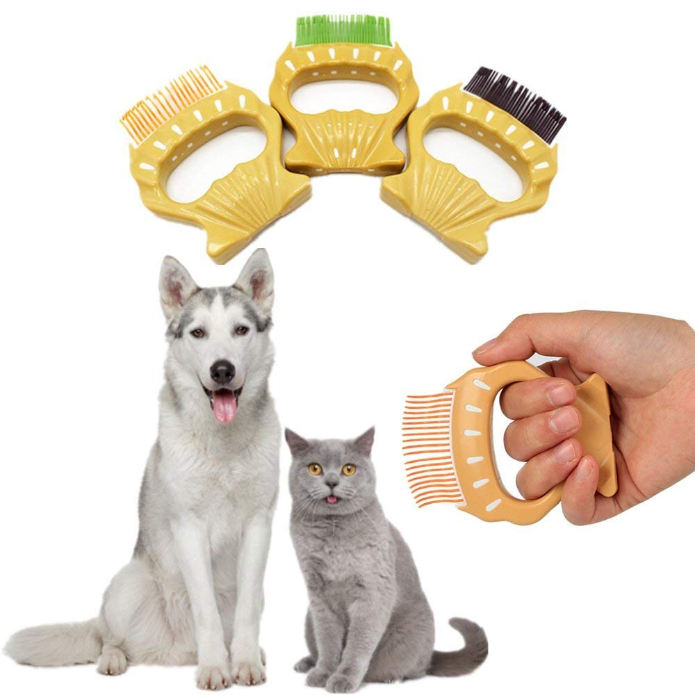 Pet Grooming Brush Shell-shaped Shedding Dematting Comb Shedding Rake Trimming Tool for Dog Cat Hair Fur <strong>Removal</strong>