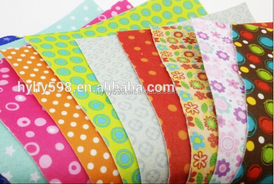 #16091304 new design /pattern /Colored printed non woven felt <strong>fabric</strong>