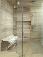 8mm, 10mm, 12mm Tempered glass shower panels factory supplier low cost