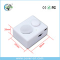 White Plastic USB Motion Sensor Sound Box with Voume & ON OFF