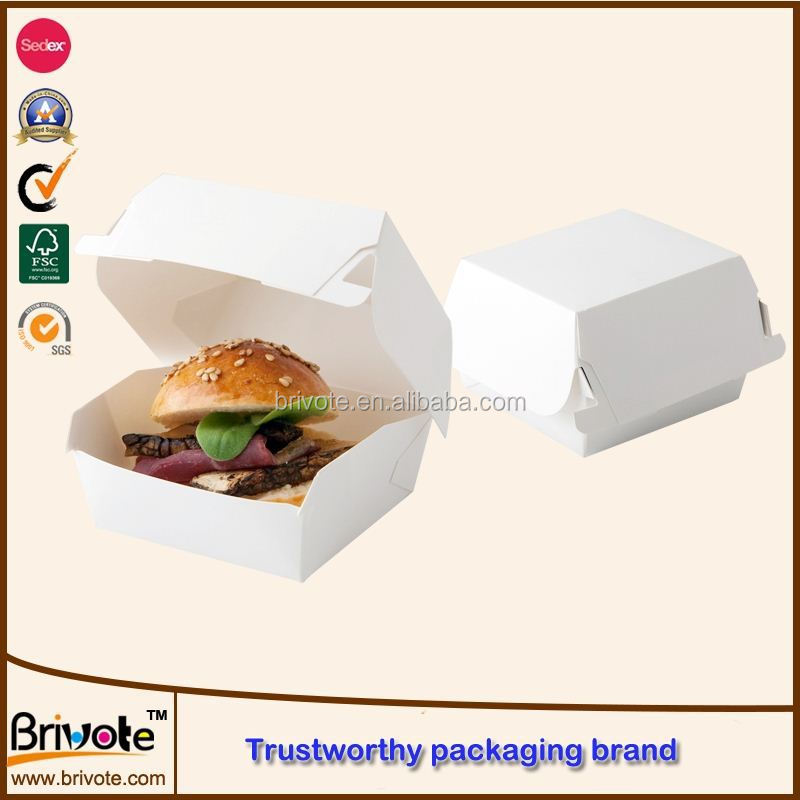 Packaging Burger Box Templates Packing Cardboard