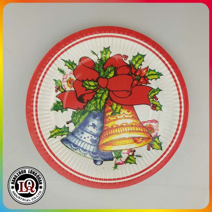Different Size Christmas Paper Plates