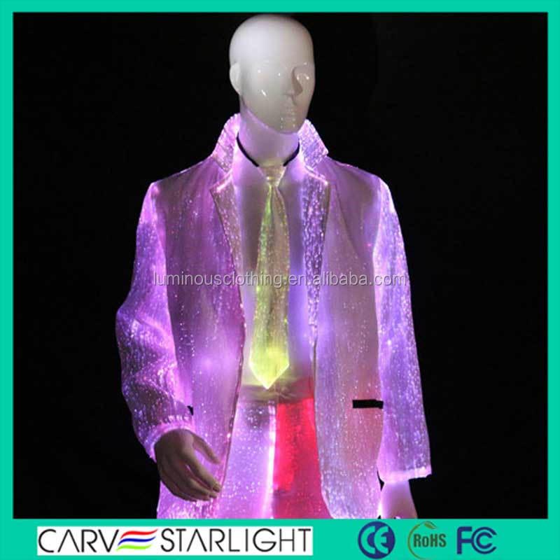 2015 moda caliente luces LED fantasía boda del novio hombres traje ...