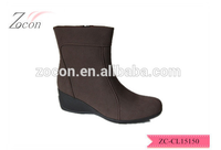 2015 hot sale boots Casual coffee cotton fabric material wadge women boots