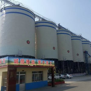 low cost 2500ton corrugated galvanized silo square for maize corn grain storage