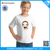 Wholesale Round Neck Printed Kid T Shirt Soft Blank Various Sizes