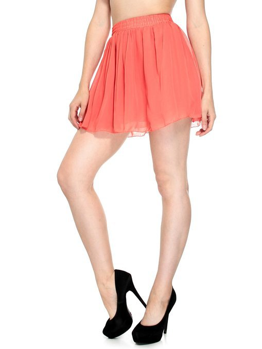 d7376d704415 Get Quotations · Cheap 2015 Summer Style Pleated Chiffon Mini Skirt For  Juniors Women Casual Plus Size 3XS-