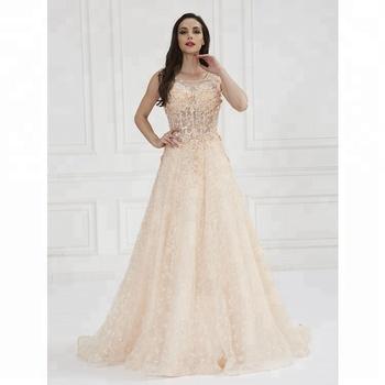 color beige largo vestido floral de la boda - buy vestido de novia