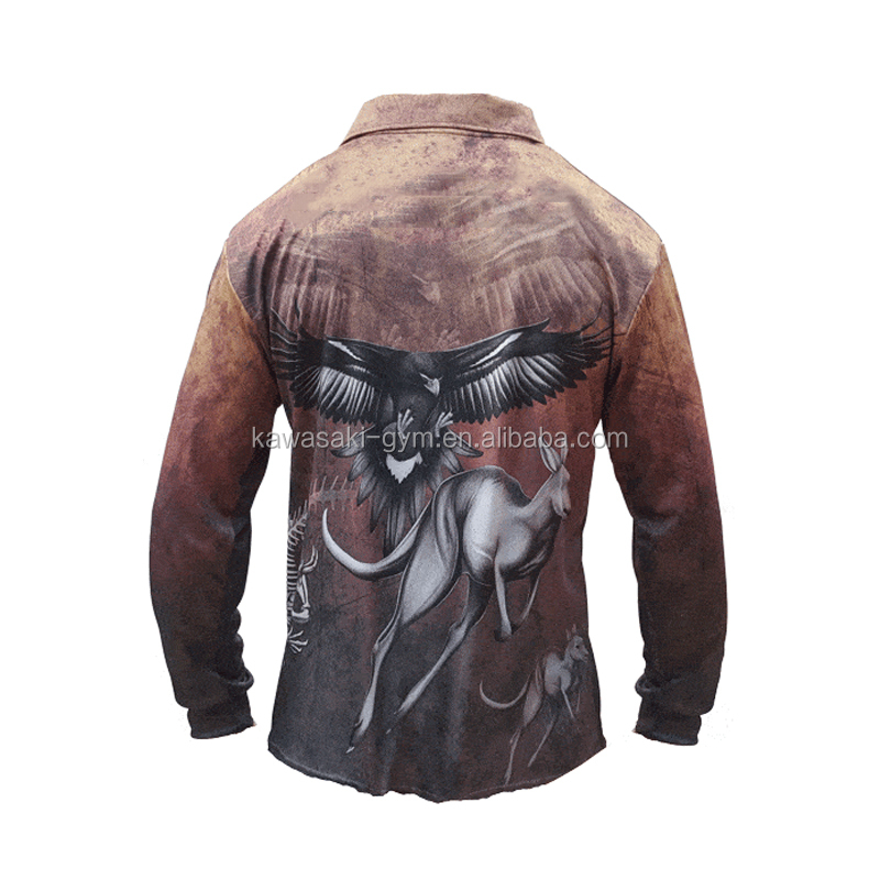 100%polyester sublimation custom design fishing jersey for team