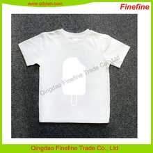 Customize short sleeve printed 100% cotton unisex baby tee