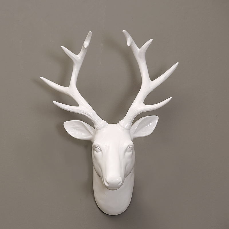 Blanco de la pared de cabeza de venado 3d Decoración
