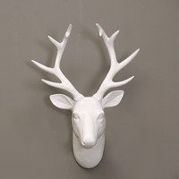 white deer head wall 3d decoration